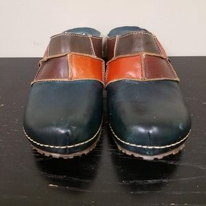 Spring Step Womens Clogs Slip on Leather Shoes